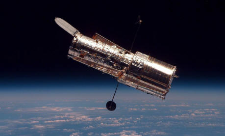 Hubble Space Telescope in orbit, from STS-82